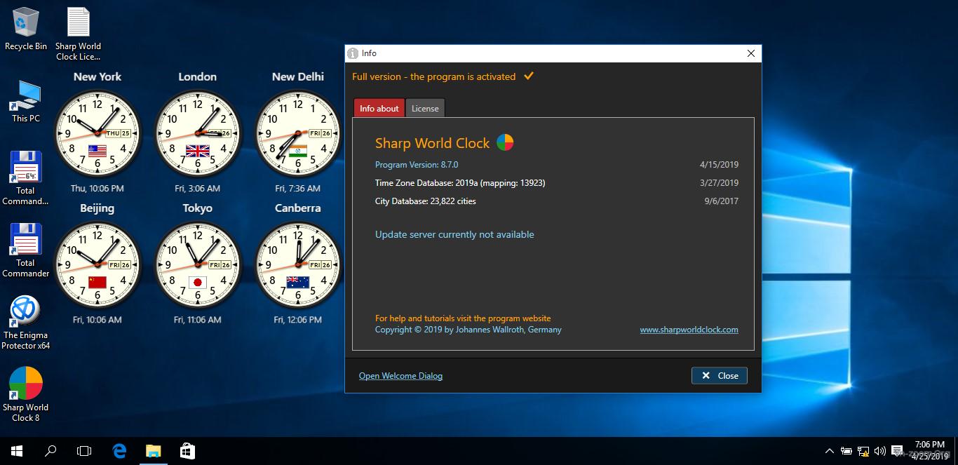 Desktop & Văn phòng - Sharp World Clock v8 7 0 Full - Hiển