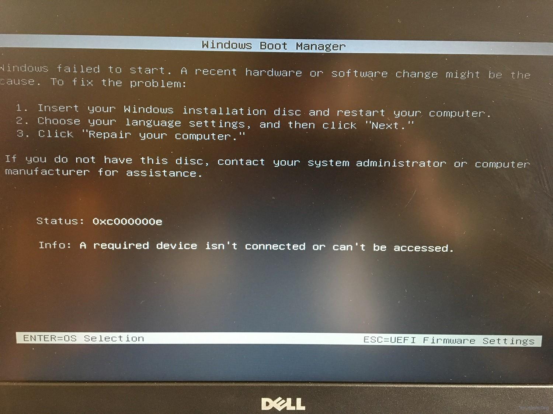 Hỏi/ Thắc mắc - Lỗi Window Boot Manger trên máy Dell cài Windows 10