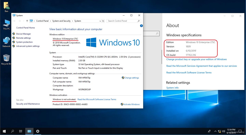 Thảo luận - Thử nghiệm cài đặt Windows 10 Enterprise LTSC 1809 và