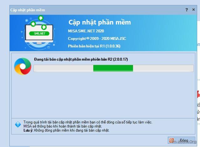Lỗi không update được Misa sme.net 2020 lên bản R1(1.0.0.36)